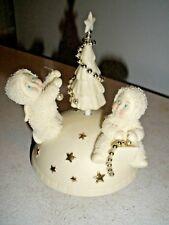 "Dept 56 Snowbabies Music Box Sledding, Decorating ""Oh Christmas Tree"""