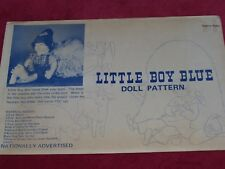 """💐LITTLE BOY BLUE - CUTE 17½"""" NURSERY RHYME DOLL & HAYSTACK SEWING PATTERN  FF"""