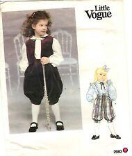 RARE Little Vogue Pattern Girl's KNICKERS VEST & BLOUSE 2980 Sz 3-4-5-6-6x UNCUT