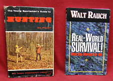 2 Book Lot- Real-World Survival/The Young Sportman's Guide to Hunting, 1961