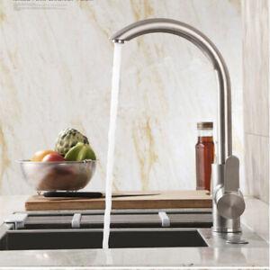 Edelstahl Wasserhahn Küche Waschtisch Mischbatterie Spültischarmatur Einhebel