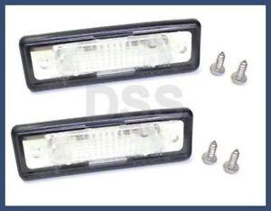Genuine BMW e24 e28 e30 License Plate Lights (set 2) OEM NEW e12 e23 11367838080