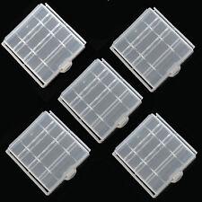 5 x Pila AAA AA 14500 casos de almacenamiento seguro soporte de plástico duro para Recargable
