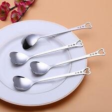 Heart Shaped Dessert Spoon Tea Coffee Spoon Mixer Flatware Kitchen Accessories;'