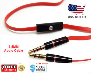Replacement 3.5mm Audio Cable with Mic Aux Cord For Beats by Dr Dre Headset New