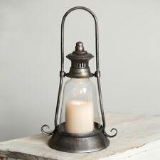 Edmonton Candle Lantern in distressed Tin