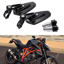 "Motorcycle Sportbike 7/8"" Handle Bar End Mirrors For KTM Duke 790 690 390 125 US"