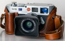 LUIGI'S PREMIUM CASE+GRIP FOR LEICA M9,MM,M8,BLACK,BROWN,RALLY+STRAP+CARRIER+UPS
