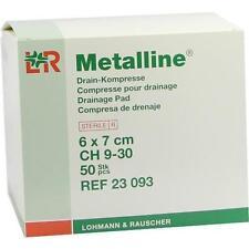 METALLINE Drain Kompressen 6x7 cm 50 St