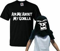 Childrens Ask Me About My Gorilla Flip T-Shirt - Funny Kids Animal Joke T Shirt