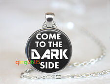 Dark side geek dome glass Tibet silver Chain Pendant Necklace wholesale