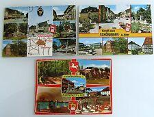 3x Schöningen Elm más mapa de imagen baja sajonia postales ha ido lot con un franqueo