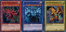 Set of 3 YuGiOh YGLD God Cards Slifer Obelisk Winged Dragon Ra Ultra Rare MINT!!