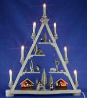 Schwibbogen-Spitze / Dreieck Weihnachtsmarkt Winterkinder geschnitzt Erzgebirge