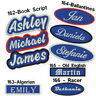 Personalized Name Patch embroidered Custom Tag Biker Airsoft Iron on Sew on 5.1""
