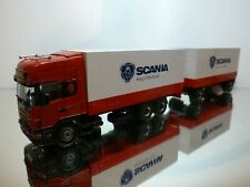 TEKNO HOLLAND SCANIA 144L 530 TRUCK + TRAILER KING of the ROAD 1:50 - VERY GOOD