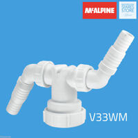 McAlpine Twin Connector To Add Dishwasher Washing Machine Upstand Waste V33WM