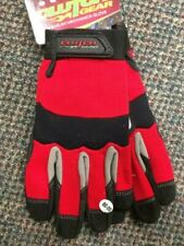 1-Pair Red Gloves Large Size Clutch Gear Great Use for Landscape / Gardening