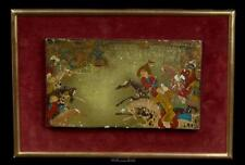 Persien 20. Jh. Lackmalerei -A Persian Lacquer Painted Wood Panel Peinture Perse