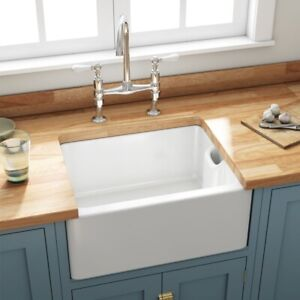 English Butler Farmhouse White Ceramic Kitchen Laundry Sink Brand New