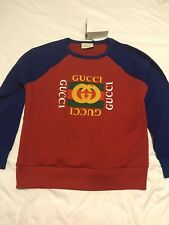 NWT & Receipt Gucci Men's Oversize Sweatshirt With Vintage Logo Sz L Large