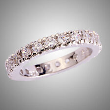 Fashion Women Round Cut White Topaz Gemstone Silver Ring Wedding Jewelry