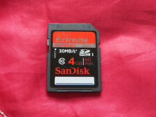 SanDisk Extreme 4GB SDHC 30MB/s Class 10 Memory SD Card