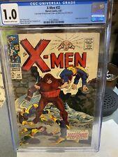 X-Men #32 CGC 1.0..This issue celebrates ICEMAN..Beware The JUGGERNAUT, My Son!