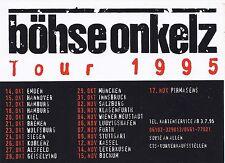 Böhse Onkelz - Tour 1995 Aufkleber (aus Sammlung)