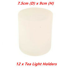 12 x Frosted Tea Light Holder Table Candle Cup Tealight Wedding Glass Party