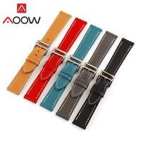 Genuine Leather Watch Strap Band For Tissot Citizen Timex Oris Casio Seiko