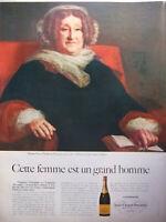 PUBLICITÉ DE PRESSE 1968 CHAMPAGNE MADAME VEUVE CLICQUOT PONSARDIN REIMS