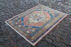 Turkish Handmade rug, Area rug, Vintage rug, Floor rug, Carpet   3,4 x 4,5 ft
