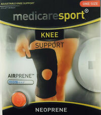 MEDICARE SPORT KNEE SUPPORT NEOPRENE WITH OPEN PATELLA - ONE SIZE *