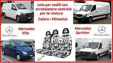 MERCEDES Vito w639 fino a 14 bus 2x FRONT ECOPELLE Coprisedile Coprisedili Nero