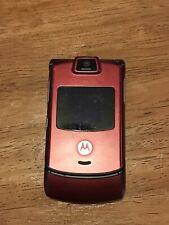 Motorola Razr V3m Cellphone Flip Folding Cellular Phone Handset Red Works