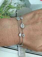 "Nadri bracelet 7"" with Swarovski Crystals Rhodium Plated Wedding! NEW$110"