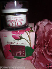 ANTIAGING ANTIWRINKLE FACE CREAM ROSE  WITH PURE ROSE WATER, Q10, VIT E 50ML.