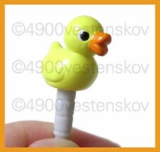 1pc Japan plugy Very cute bath duck Cell Phone Anti Dust Earphone Plug Cap