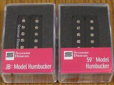 NEW Seymour Duncan SH-4 JB & SH-1n 59 Black Humbucker PICKUP SET Pickups Guitar