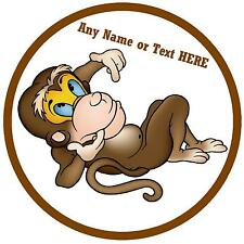 MONKEY - PERSONALISED - FUNNY CAR TAX DISC HOLDER - NAME OR TEXT - GIFT - NEW