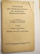 Karl Hoffmann & Arnold Seifert-memorandum sulla riforma - 1930 Sassonia