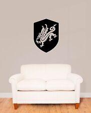 Wall Stickers Vinyl Decal Dragon Shield Medieval Heraldry (ig288)