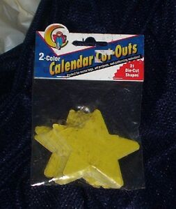2 Color Calendar Cut Outs die-cut shapes  home office, crafts personal nib-new