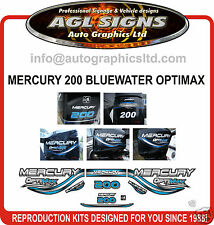 1999 MERCURY 200  OPTIMAX BLUEWATER OUTBOARD DECAL SET 135 150 225