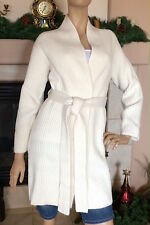 UNIQLO U LEMAIRE WOMEN LAMBSWOOL LONG CARDIGAN COLOR OFF WHITE NWT SIZE S 89.90$