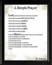 St. Francis Prayer Inspirational Poster Print Picture or Framed Wall Art