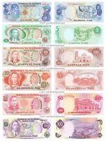 Philippines 2 + 5 + 10 + 20 + 50 + 100 Piso 1978 Set of 6 Banknotes 6 PCS UNC