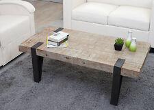 Table Basse de Salon HWC-A15b, Sapin Bois Massif Rustique 40x120x60cm
