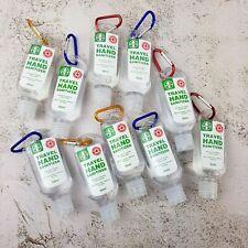 10 Hand Sanitiser Sanitizer Travel Pocket Holder Antibacterial Cleanser Gel 50ml